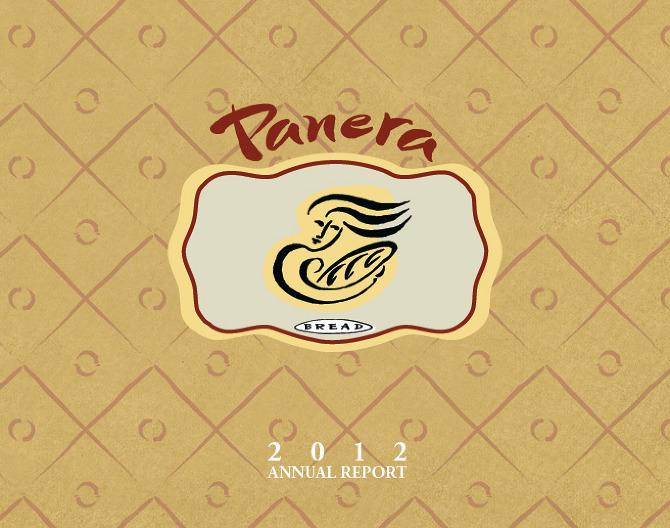 panera bread company 2012 annual report